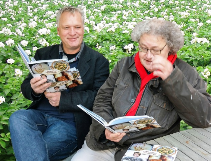 Met co-auteur Bernhard Harfsterkamp van De Smaak van Winterswijk.