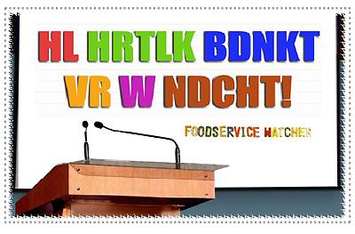 Foodservice Focus, lezingen van Foodservice Watcher