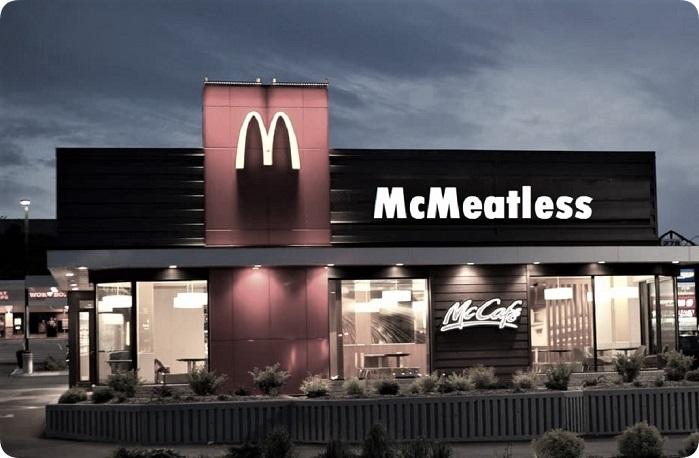 McMeatless, bewerkte foto